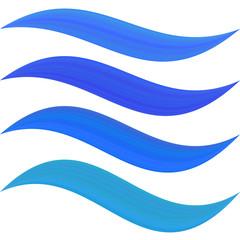 Blue water symbol element set