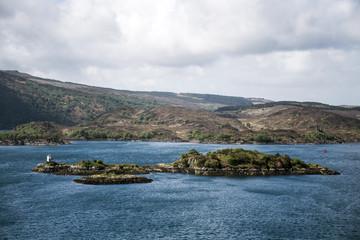 Isle of Sky Scotland UK Panorama View Sea Islands