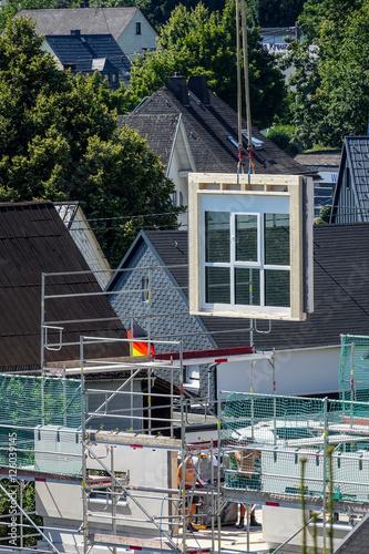 Fertighaus Bau, Das Fenster Kommt Photo Gallery