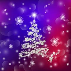 Christmas tree illustration.