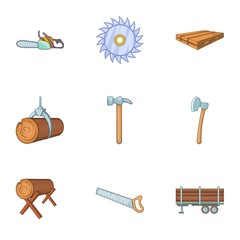 Cleaver icons set. Cartoon illustration of 9 cleaver vector icons for web
