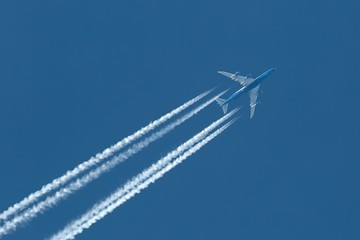 Plane at cruising altitude Wall mural