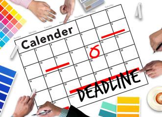 Deadline Job Work Events Planner Organizer
