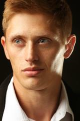 Portrait of elegant man closeup
