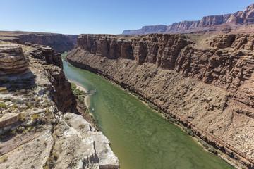 Colorado River Flowing Towards the Grand Canyon in Arizona