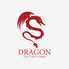 Dragon logo, Business card Elements for Brand Identity,Vector template.