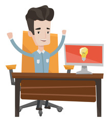 Successful business idea vector illustration.