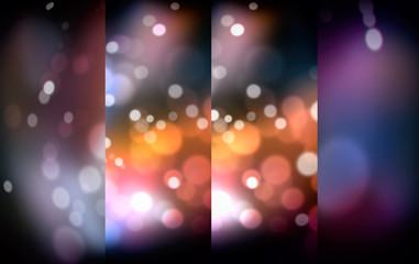 Fotobehang - blurred of shine lights