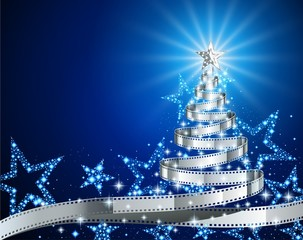Silver Film Strip Christmas Tree