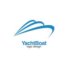 Yacht Boat Creative Concept Logo Design Template