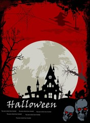 Halloween background for you design