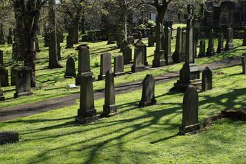 Old cemetery in Edinburgh, Scotland, UK