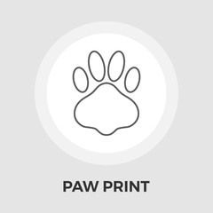 Paw vector flat icon