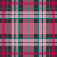 Vector seamless scottish tartan pattern in pink, purple, navy blue. British or irish celtic baby design for textile, fabric or for wrapping, backgrounds, wallpaper, websites