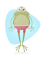 funny clipart of a frog with trunks