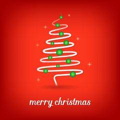 Vector christmas card with christmas tree