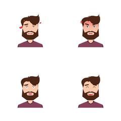 Cute men face