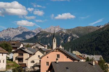 Guarda, Villaggio di Schellenursli, Bassa Engadina, Canton dei Grigioni, Svizzera