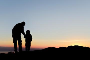 çocuk ve baba