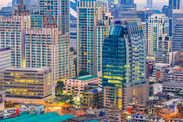 Bangkok Cityscape, Business district with high building, Bangkok, Thailand