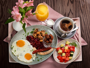A traditional German breakfast