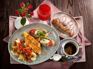 A traditional France breakfast