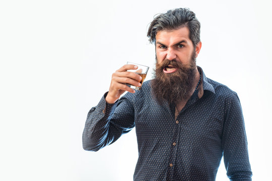 bearded man with whiskey