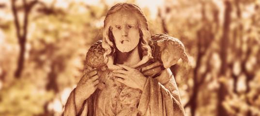 Jesus Christ - the Good Shepherd (vintage styled)