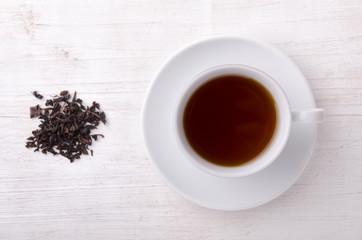 Black tea. Highest class tea every day.