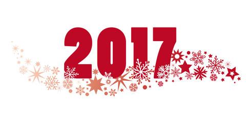 2017 Neujahrsgrüße mit Sternen