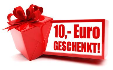 10 Euro geschenkt! Button, Icon