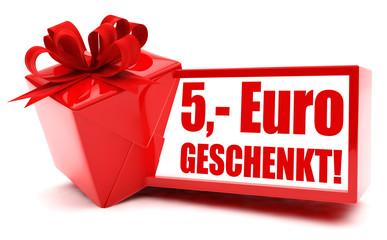 5 Euro geschenkt! Button, Icon