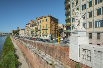 Fototapete - Historical city Pisa, Tuscany, Italy