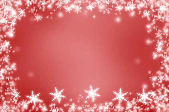 red winterbackground - festive frame