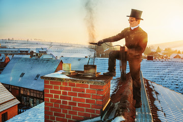 Chimney Sweep in Traditional Clothing