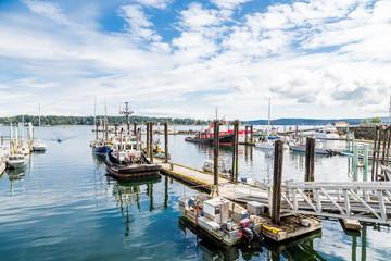 Boats in Nanaimo Harbor