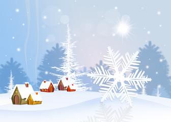 Photo sur Plexiglas Snowflake in winter