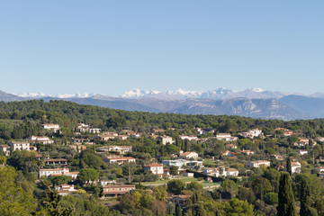 Alpes maritimes in winter - from Mougins