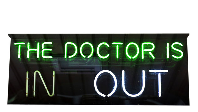 Doctor is out sign