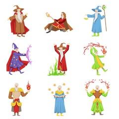 Classic Fantasy Magicians Set Of Characters