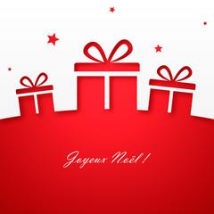 Joyeux Noël ! Carte avec cadeaux