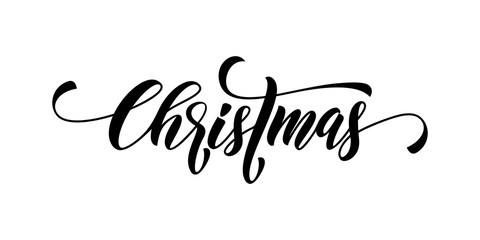 Christmas calligraphy lettering vector
