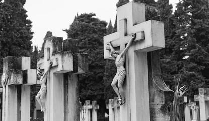 Cross with stones