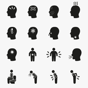 Diseases and sick icons