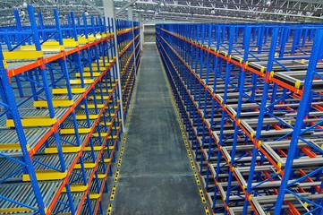 Storage pallet racking system for storage distribution centre