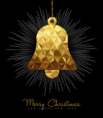 Christmas and New Year gold decoration bell