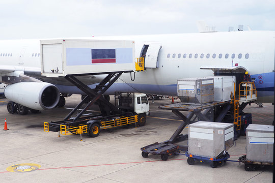 Cargo and catering loading to commercial airlines.