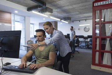 business couple at office