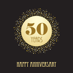 HAPPY 50 YEAR ANNIVERSARY Vector Card