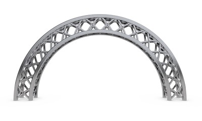 Arch truss.3D rendering illustration.